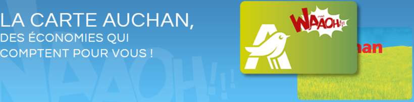 La carte de fidélité d'Auchan
