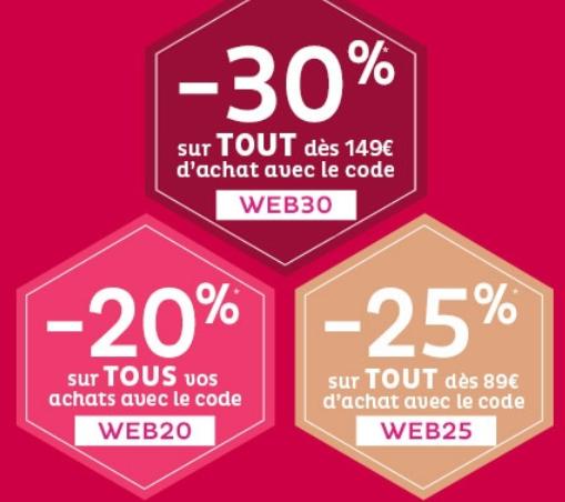 Nocibe propose plusieurs codes promo sur son site internet