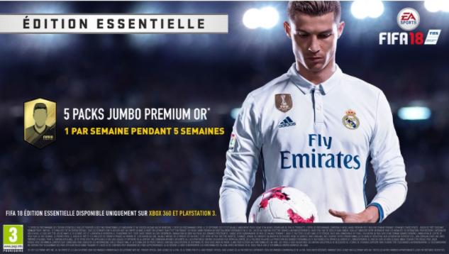 Les précommandes pour Fifa2018 édition Essentielle sont accompagnées de bonus