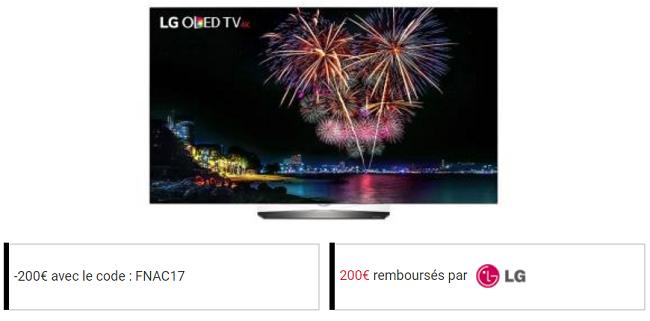 la Fnac permet de rembourser 400 euros sur un écran LG Oled