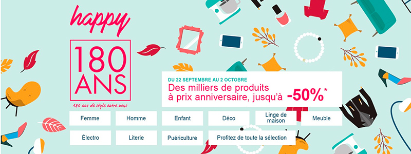 Promo La Redoute Linge De Maison.La Redoute Des Milliers De Produits En Promo Pour Ses 180 Ans