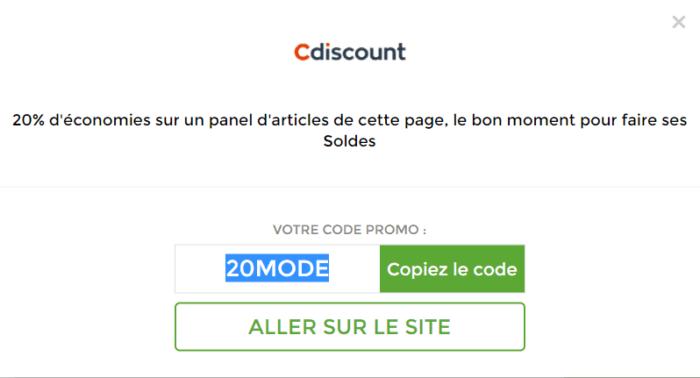 Les codes promos ne s'appliquent pas forcément à tous les produits d'un site