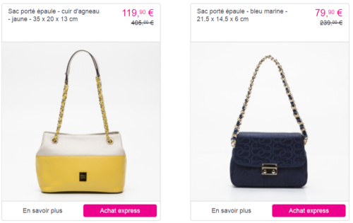 Le site des Ventes privées propose les sacs Cerruti à prix réduits