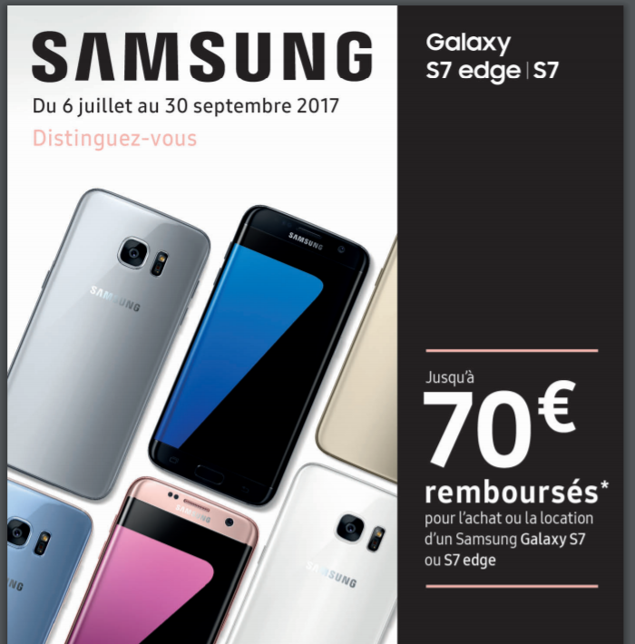 samsung remboursement cashback les coupons. Black Bedroom Furniture Sets. Home Design Ideas