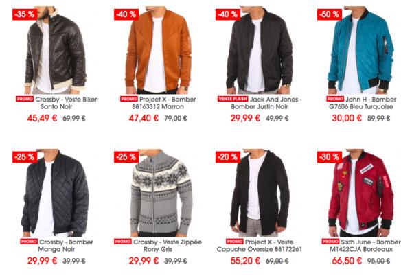 LaBoutiqueOfficielle propose de nombreuses vestes en promo.