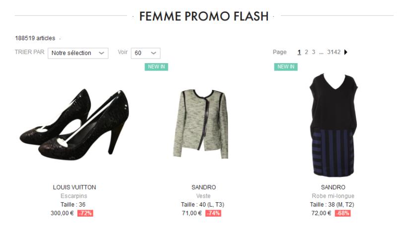 Vide Dressing Femme promo flash