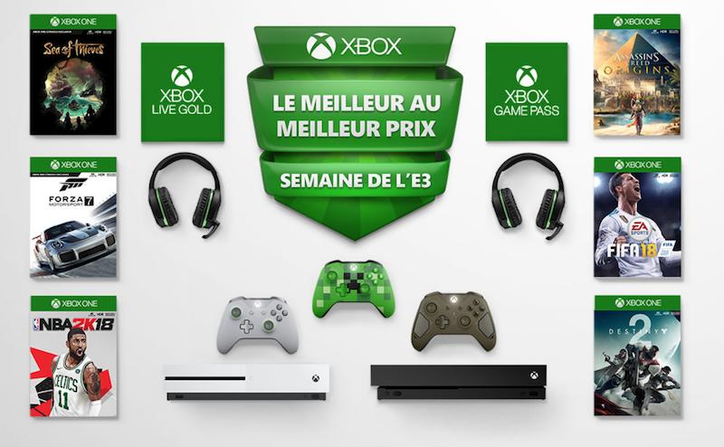 Semaine E3 grosses réductions Xbox One et jeux.