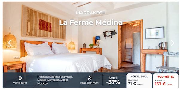 137 euros minimum pour ce voyage à Marrakech avec Cdiscount Voyages.