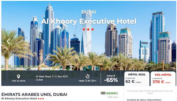 Prix compétitif sur Cdiscount voyages pour partir à Dubaï.