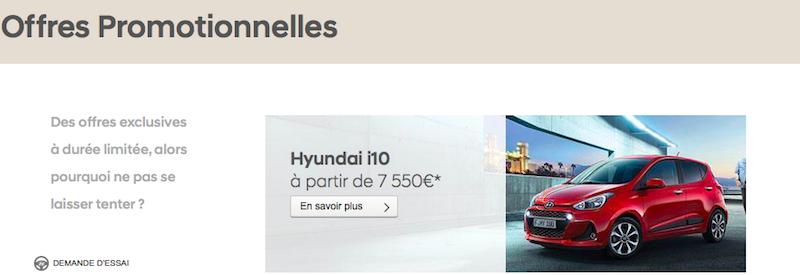 promotion Hyundai voitures août 2018